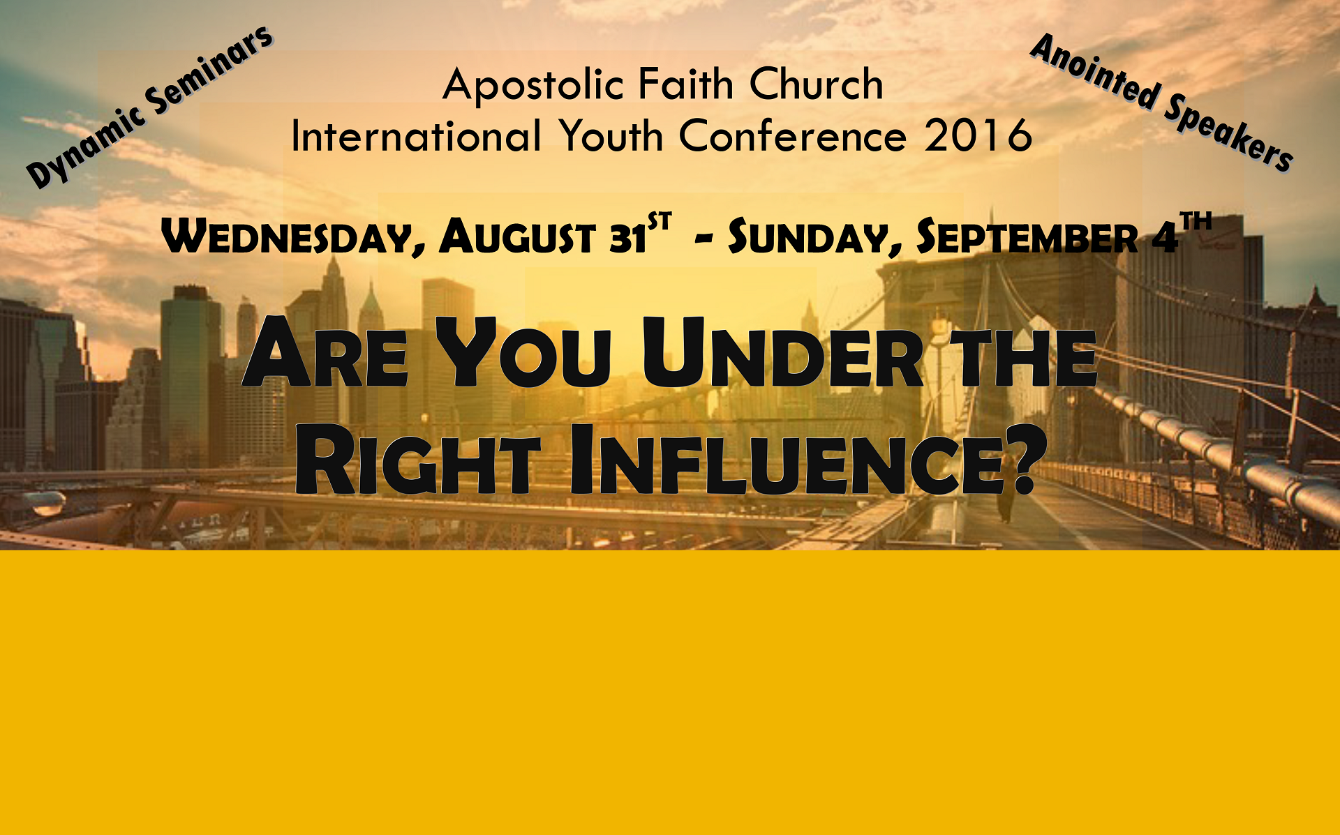 International Youth Conference 2016